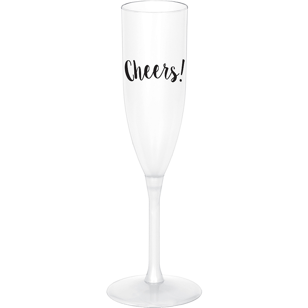 Black Cheers Champagne Flutes 4ct Image #1