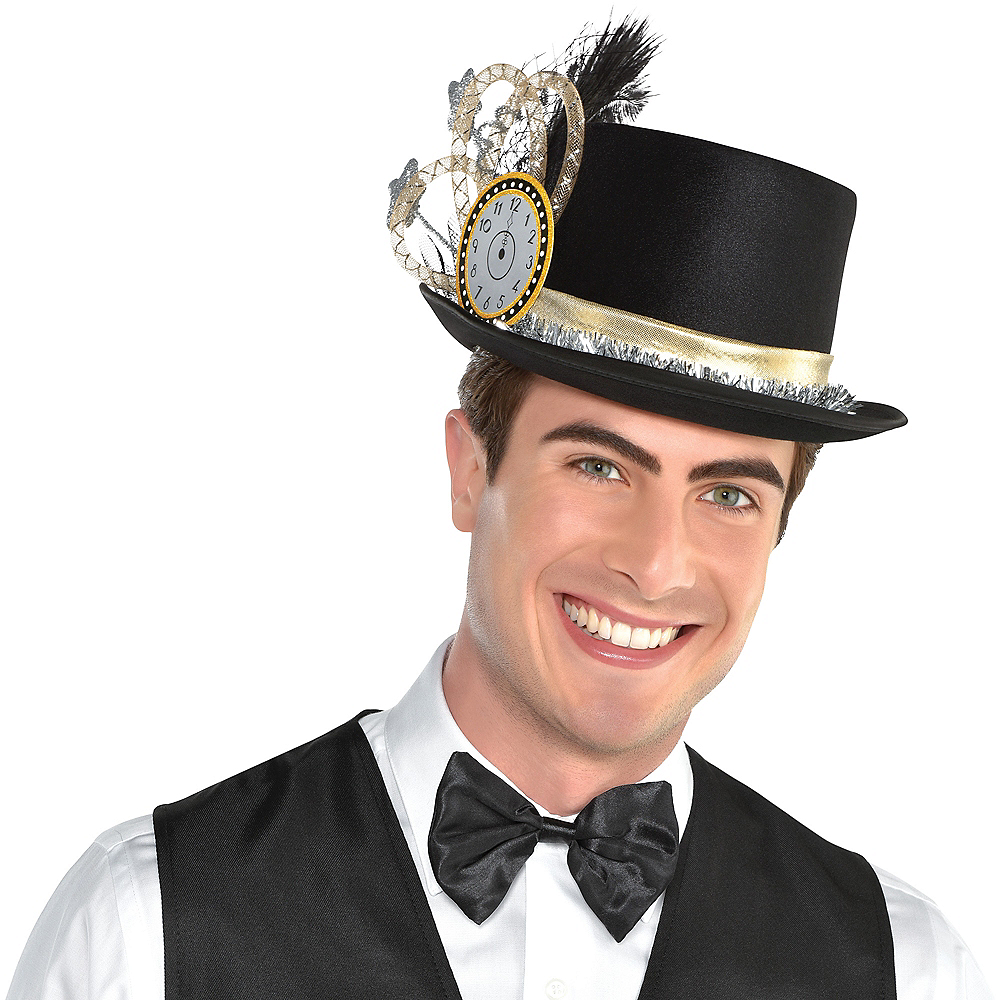 Clock & Stars New Year's Eve Top Hat 11 3/4in x 5 1/2in ...