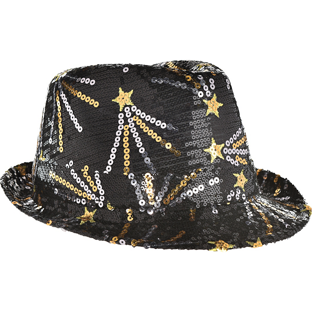 Sequin Gold & Silver Shooting Stars Fedora Image #1