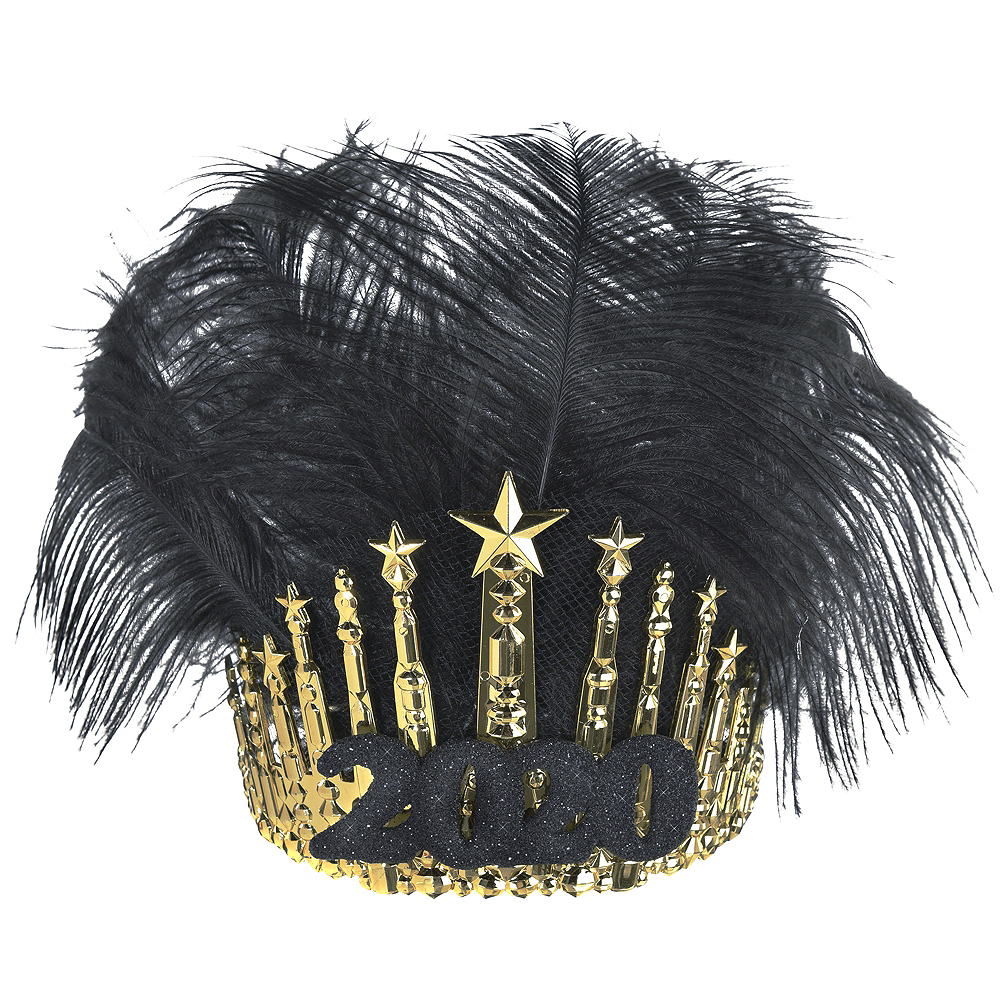 Black & Gold 2020 Feather Crown Image #1