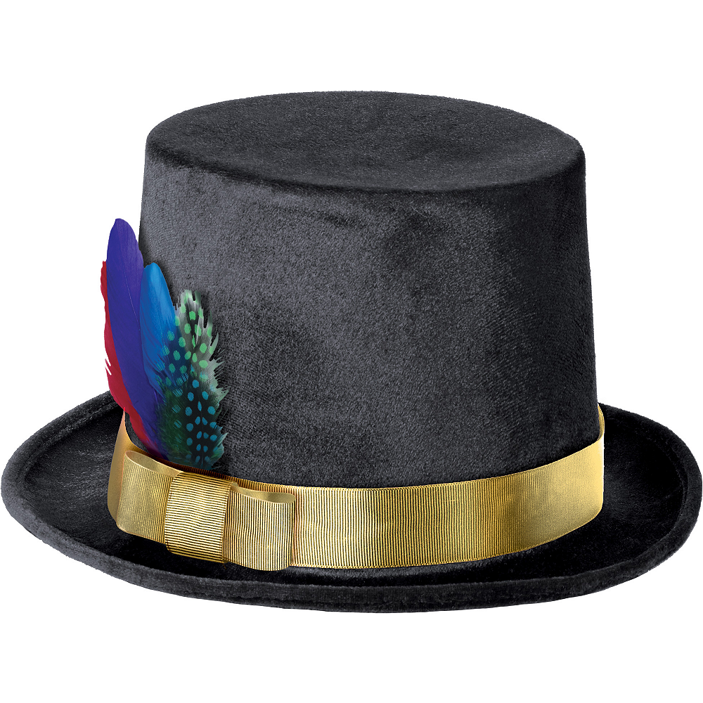 Colorful Feather Top Hat Image #1