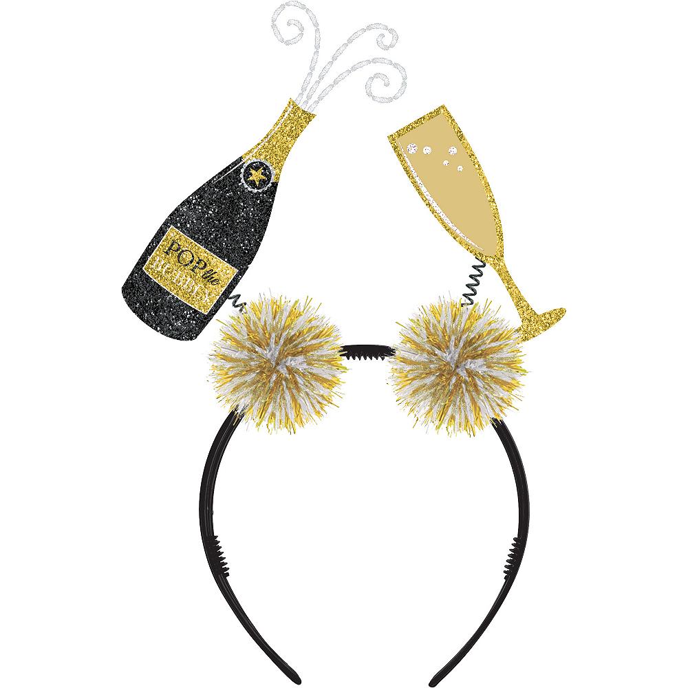Glitter Champagne Bottle & Flute Head Bopper Image #1