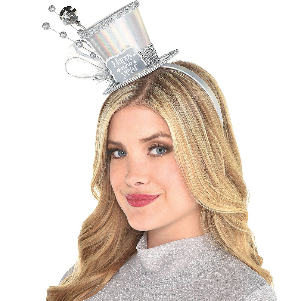 Iridescent Happy New Year Top Hat Headband Image #1