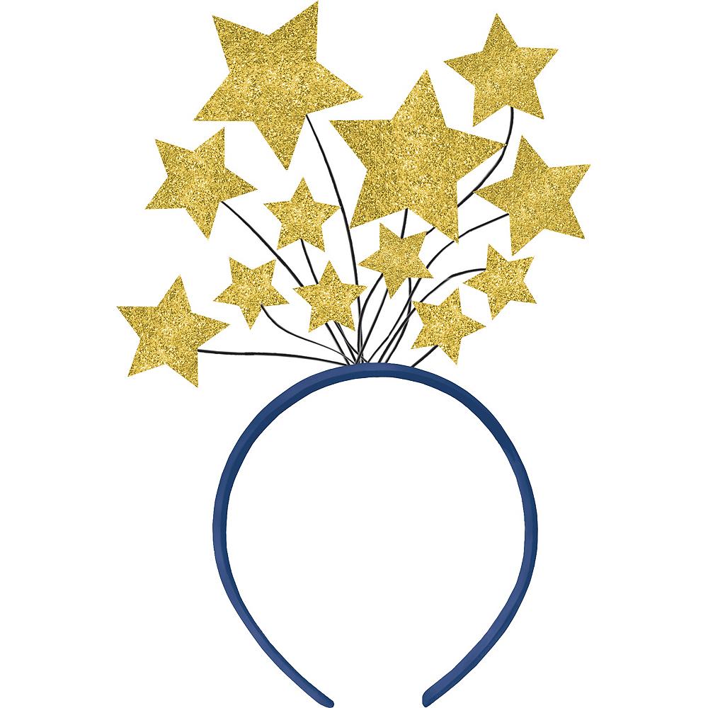 Glitter Gold Star Head Bopper Image #1