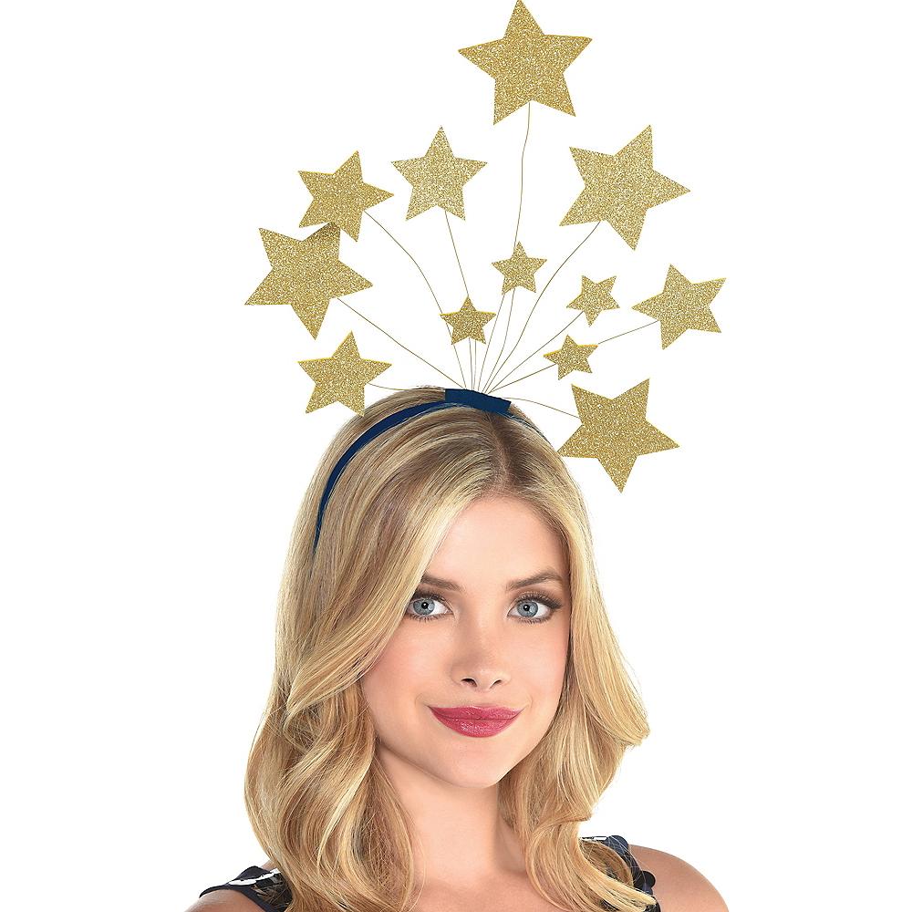 Glitter Gold Star Head Bopper Image #2