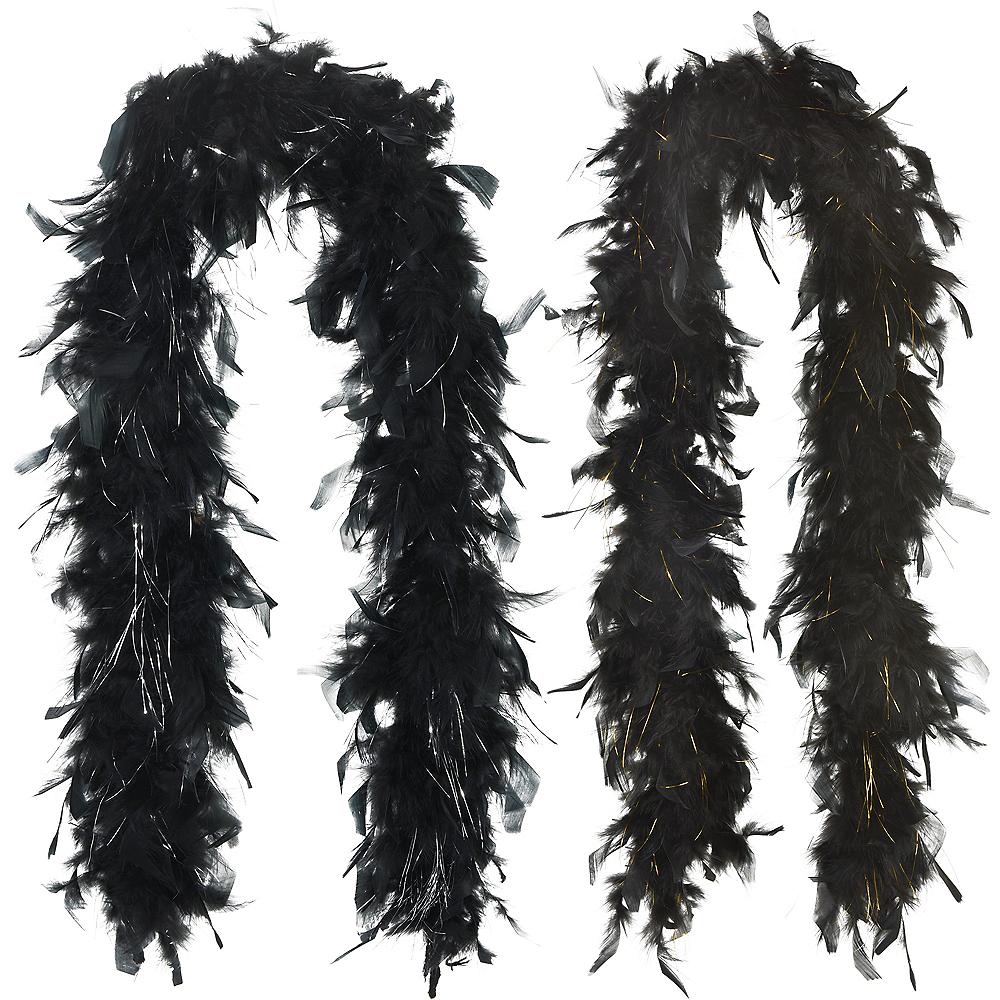 Black & Metallic Boas 2ct Image #1