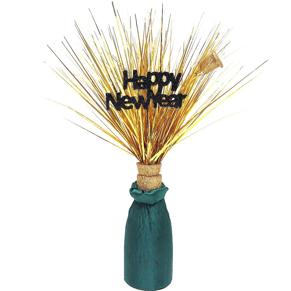 Happy New Year Champagne Bottle Spray Centerpiece Image #1