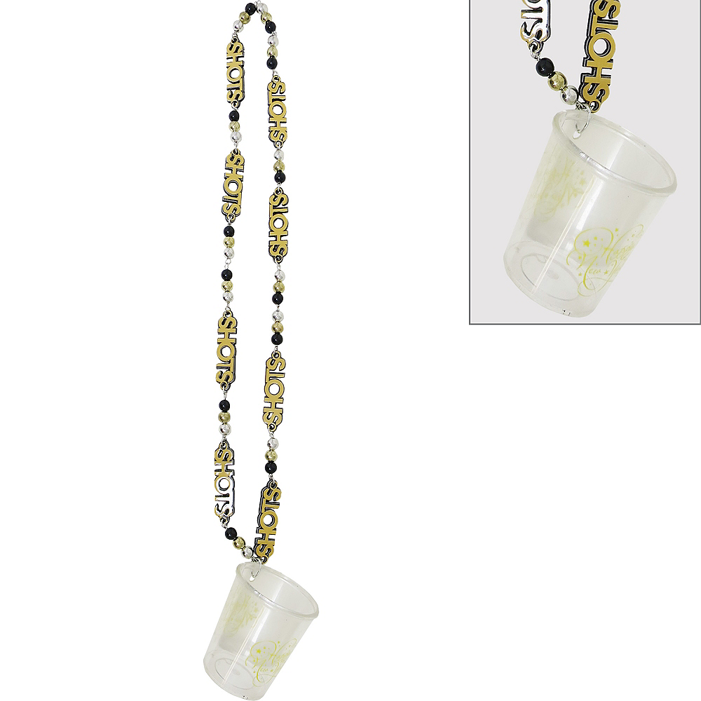 Happy New Year Shot Glass Necklace Image #1