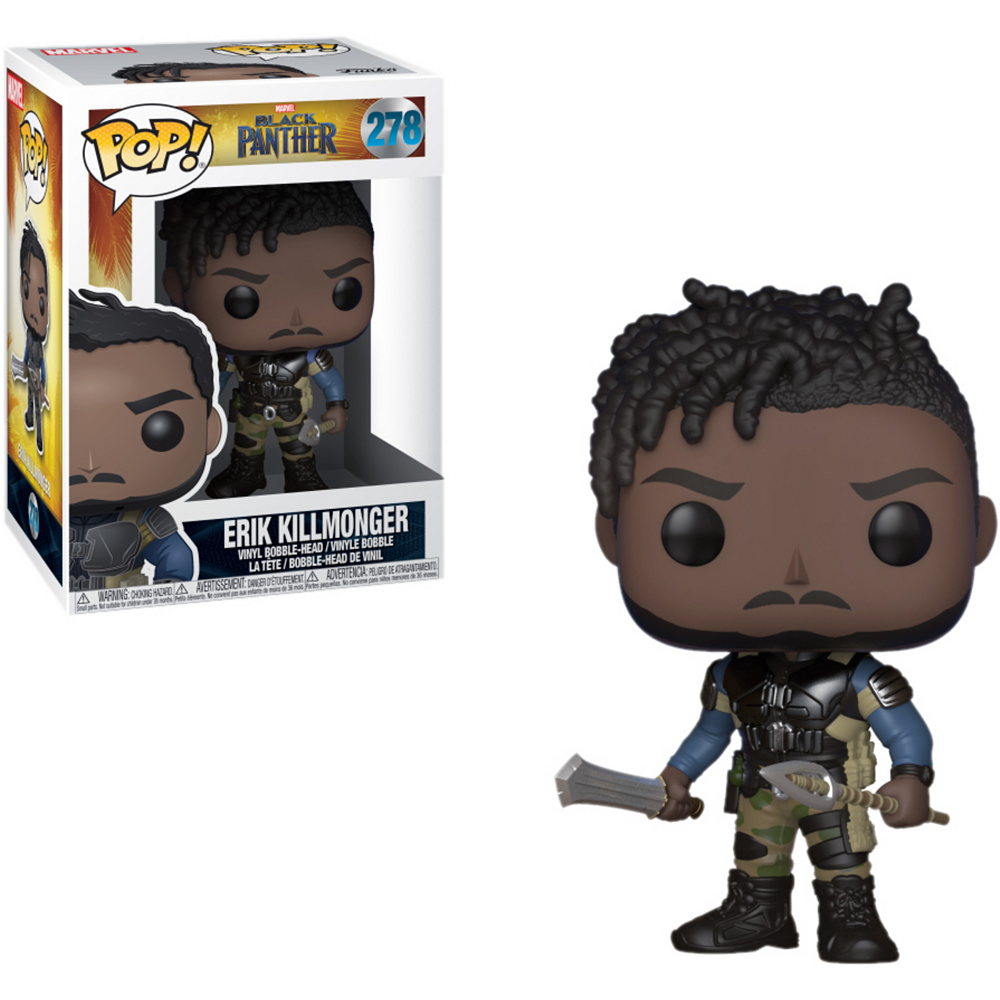 Funko Pop! Erik Killmonger Bobble Head - Black Panther Image #1