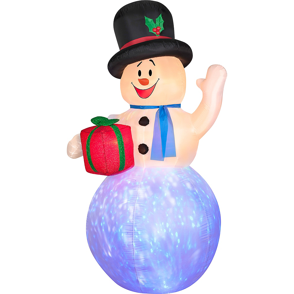 4bb3e3cfe3be7 Light-Up Inflatable Snowman Image  1 ...