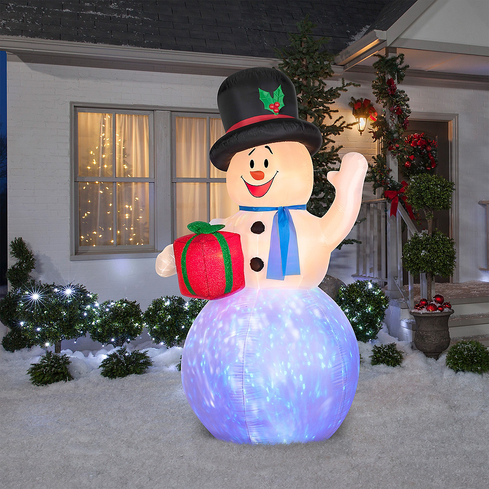 Light-Up Inflatable Snowman Image #2