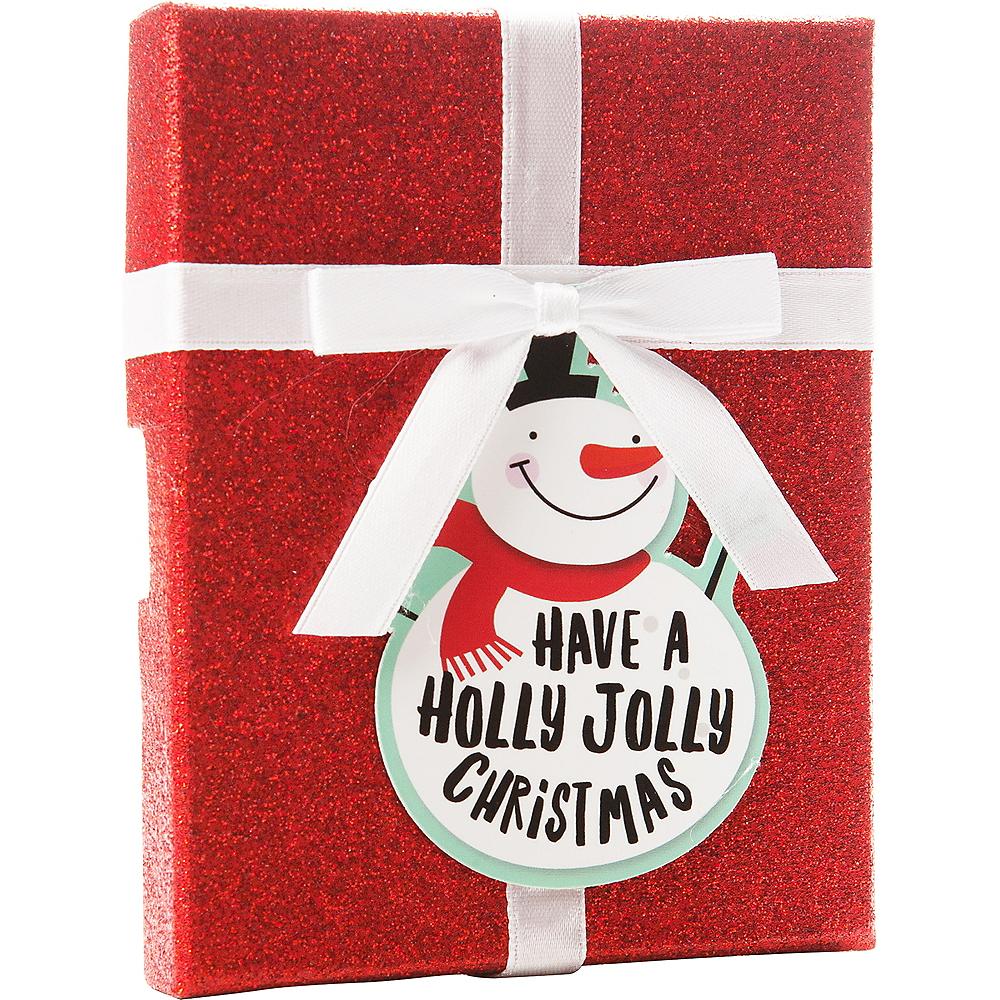 Glitter Red Snowman Gift Card Holder Box Image #1