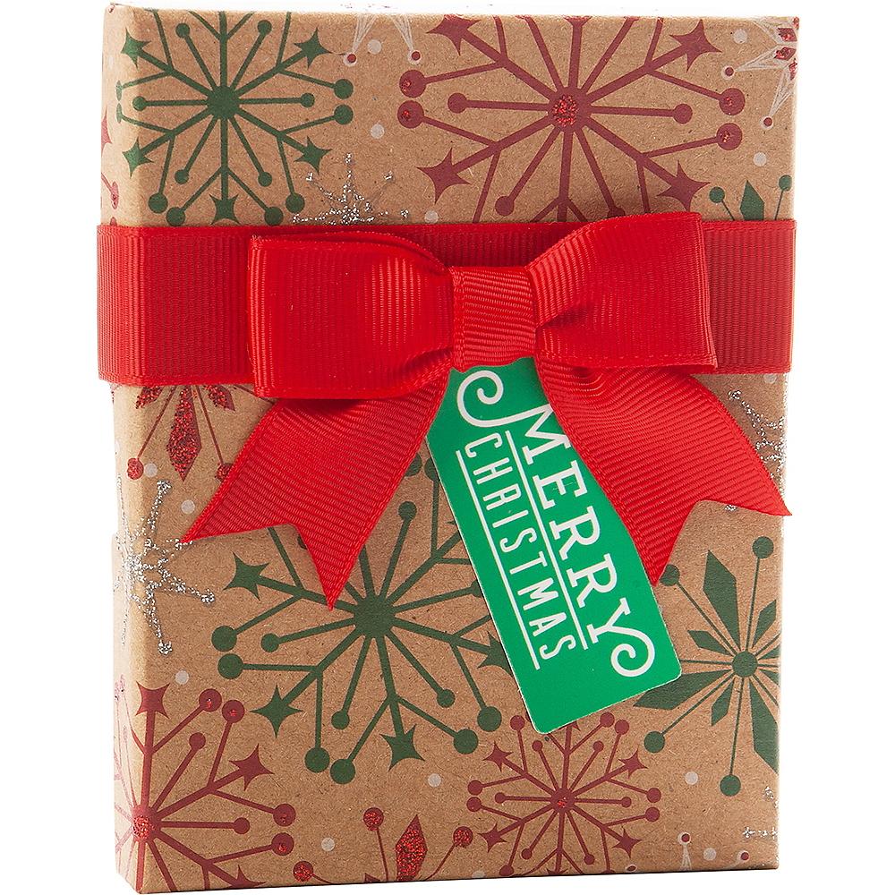 Kraft Snowflake Gift Card Holder Box Image #1