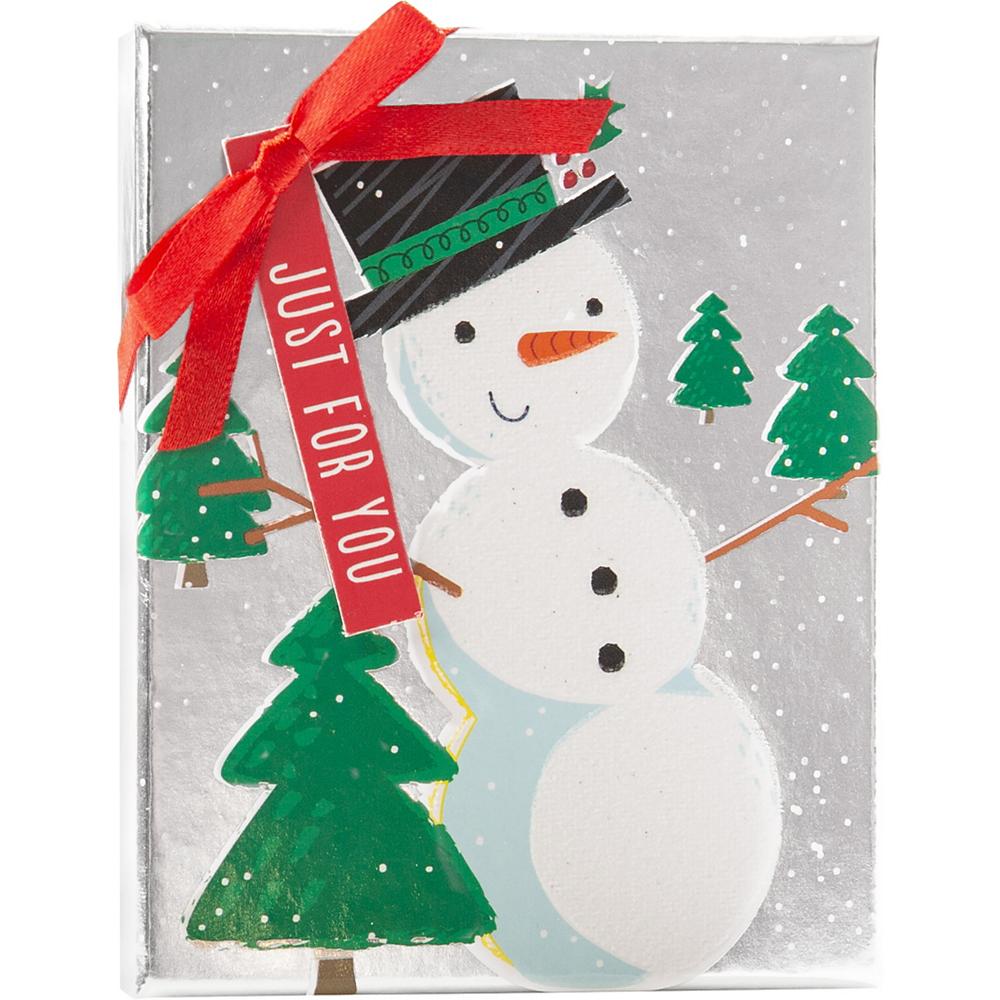 Metallic Snowman Gift Card Holder Box Image #1