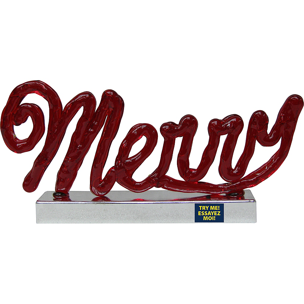 Light-Up Merry Sign Image #1