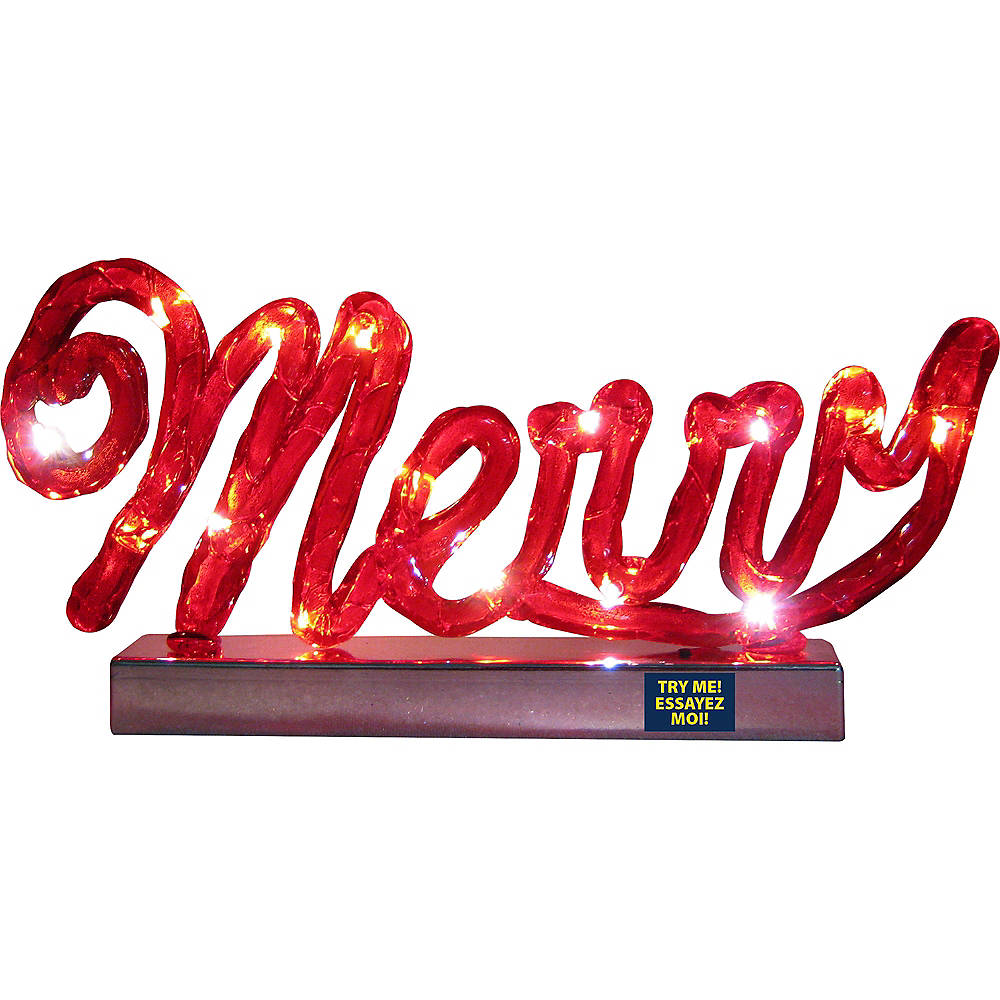 Light-Up Merry Sign Image #2