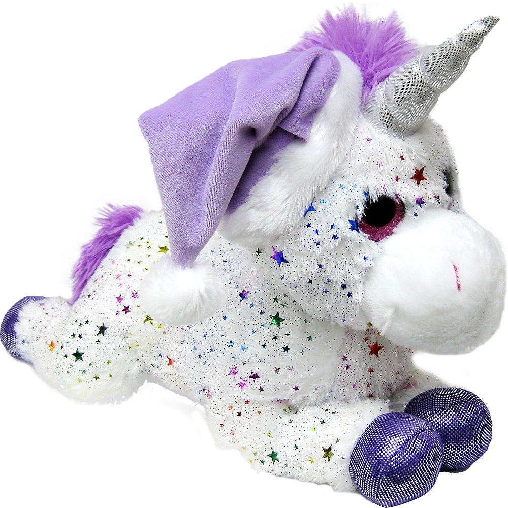 Nav Item for Purple & White Santa Unicorn Plush Image #1