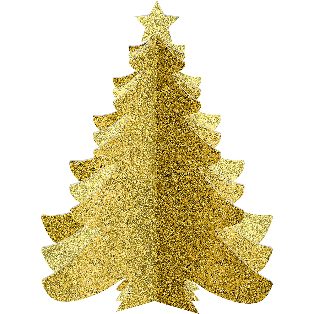 Glitter Gold Christmas Tree