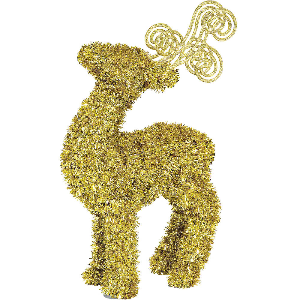 Nav Item for Gold Tinsel Reindeer Image #1