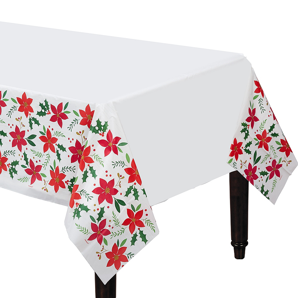 Holly Merry Christmas Table Cover Image #1