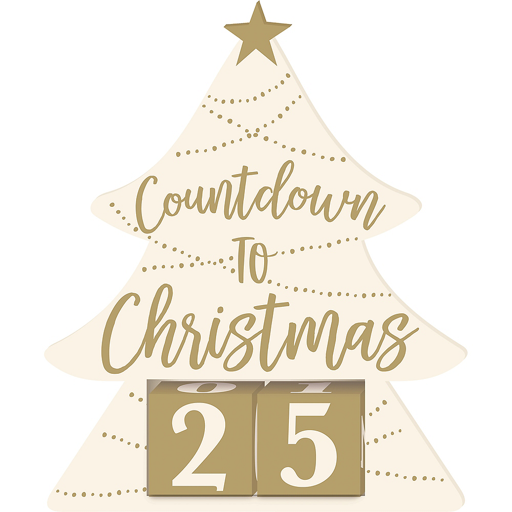 How Many Days Left Until Christmas.Countdown To Christmas Sign