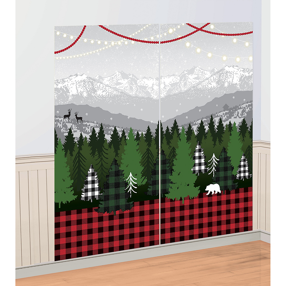 Cozy Christmas Scene Setter with Photo Booth Props Image #2