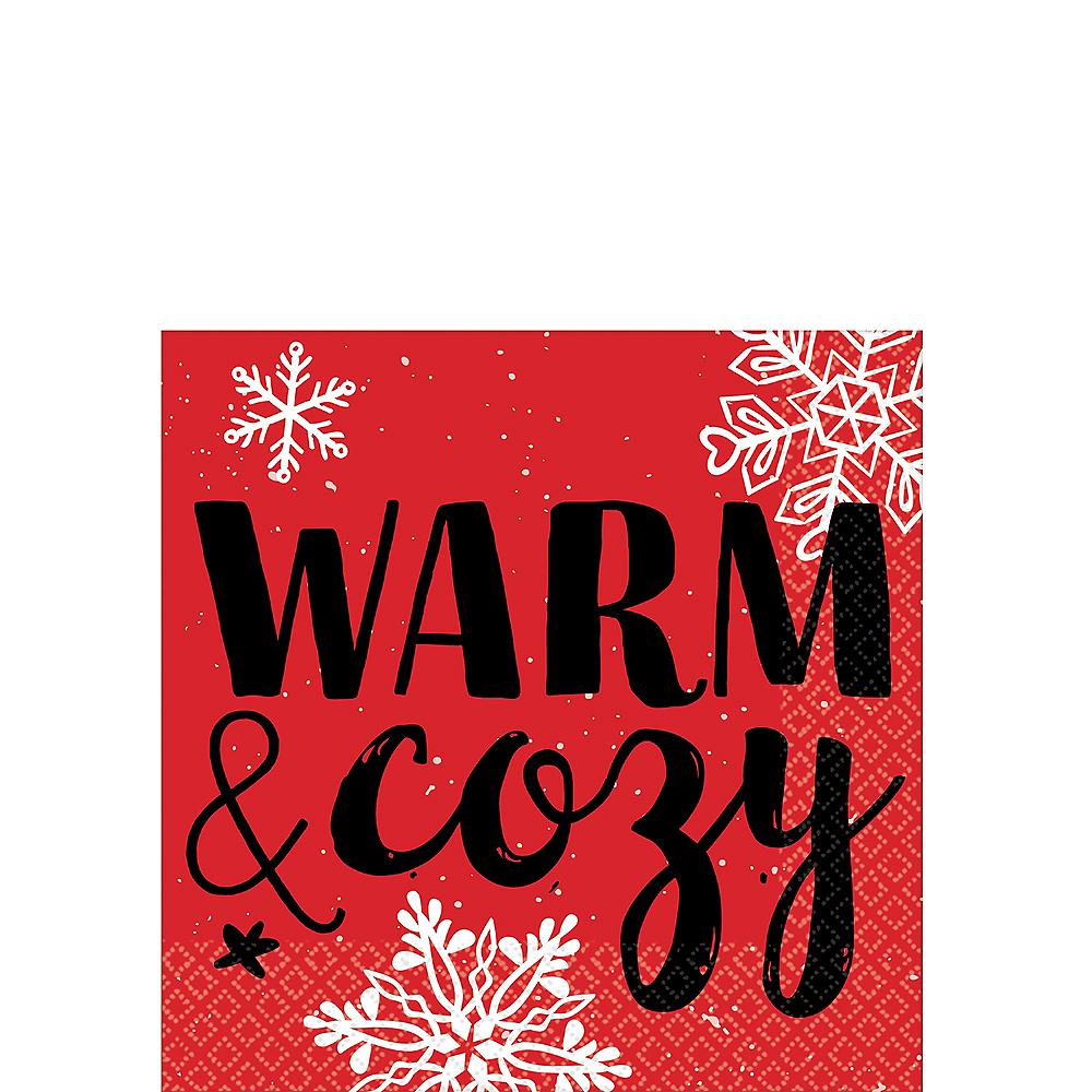 Warm & Cozy Beverage Napkins 16ct Image #1