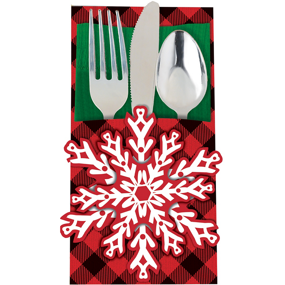 Cozy Holiday Cutlery Holders 12ct Image #1