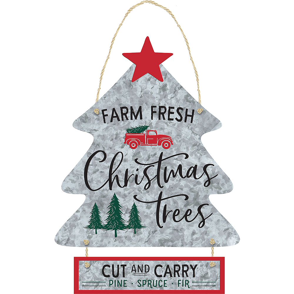 Christmas Tree Stacked Sign Image #1