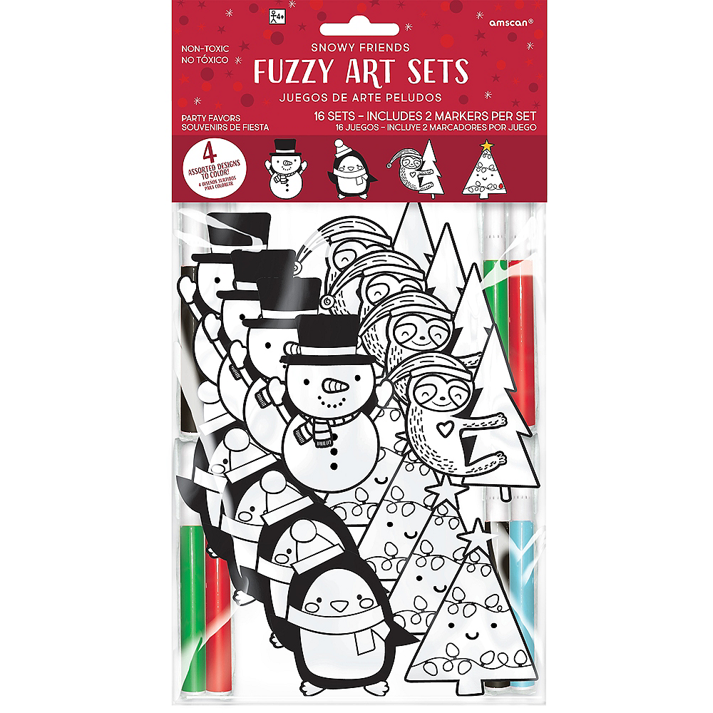 Christmas Fuzzy Art Sets 16ct Image #1