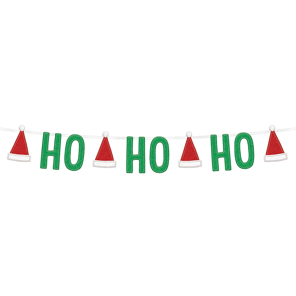 Nav Item for HO HO HO Felt Christmas Banner Image #1