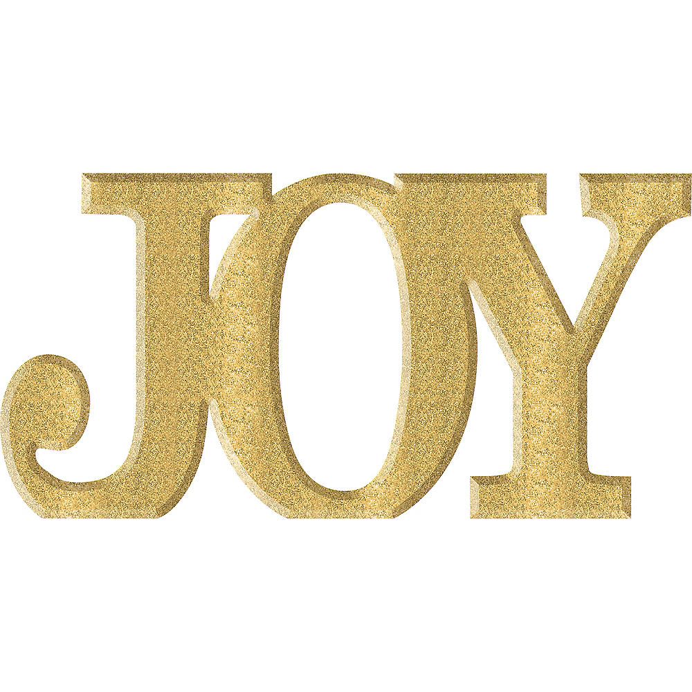 Glitter Gold Joy Sign 13in X 6 12in Party City