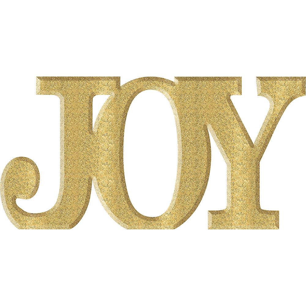 Glitter Gold Joy Sign Image #1