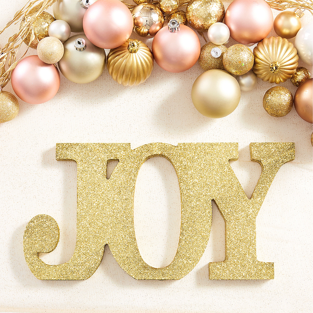 Glitter Gold Joy Sign Image #2