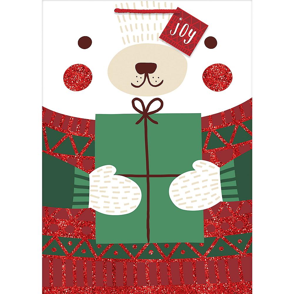 Glitter Winter Polar Bear Gift Bag Image #1