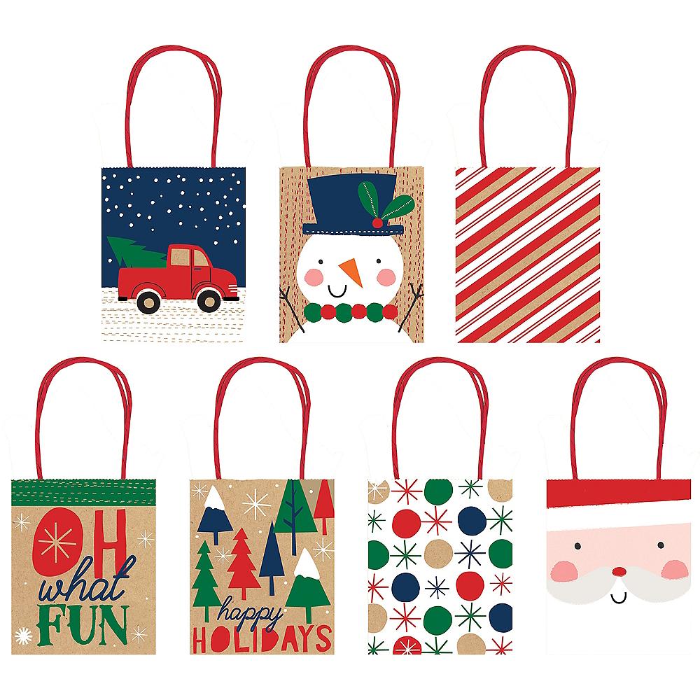 Kraft Christmas Gift Bags 7ct Image #1