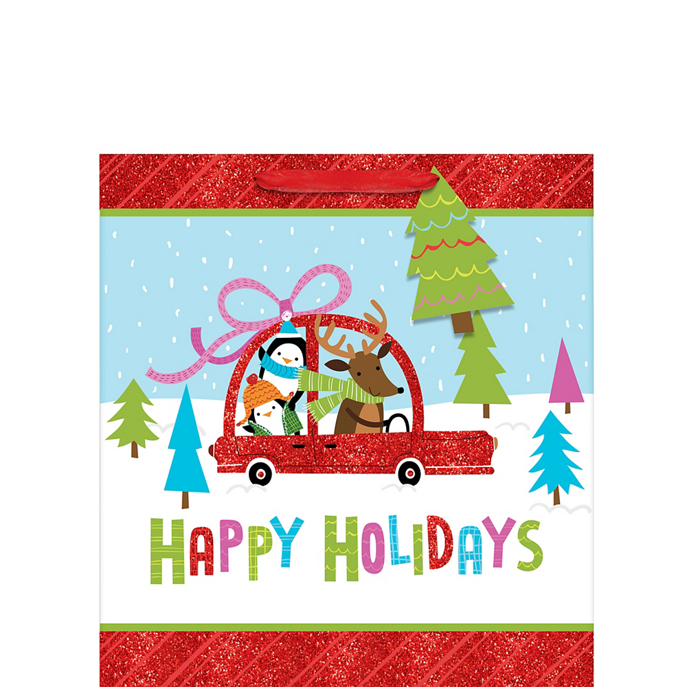 Glitter Holiday Friends Gift Bag Image #1