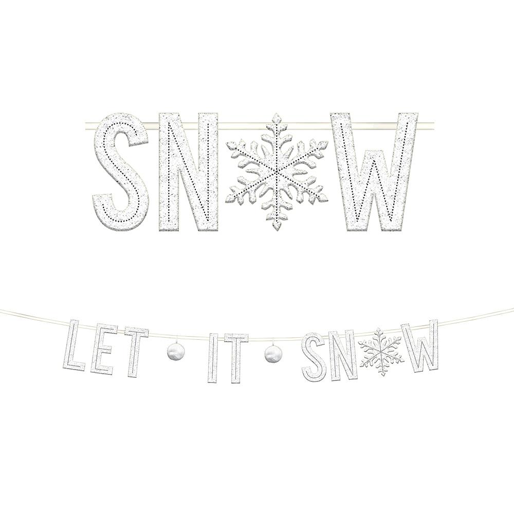 Let It Snow Letter Banner Image #1