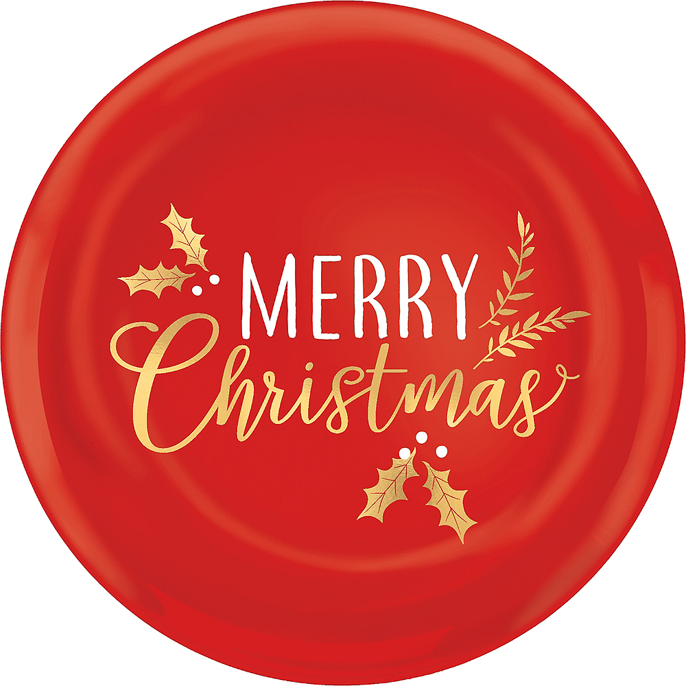 Metallic Merry Christmas Serving Tray Image #1