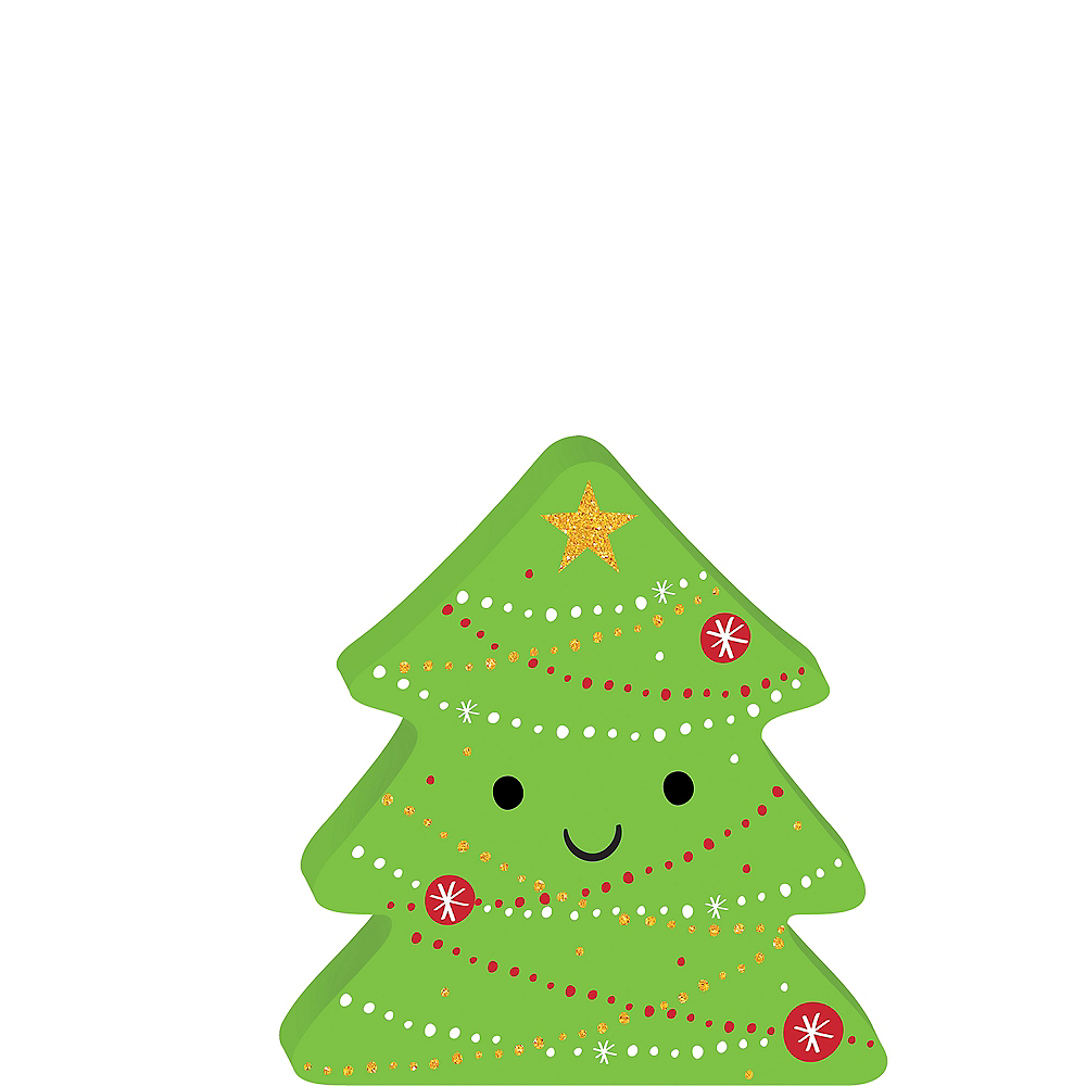 Smiling Christmas Tree Sign Image #1