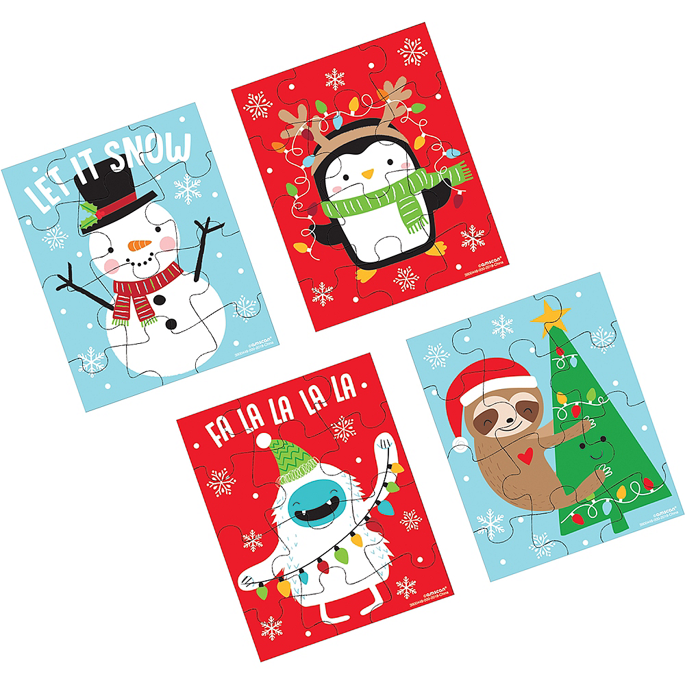 Christmas Favor Puzzles 12ct Image #1