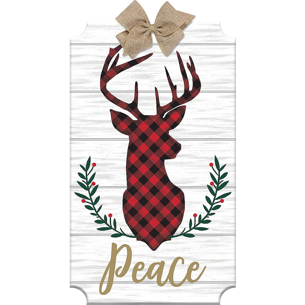 Peace Reindeer Easel Sign Image #1