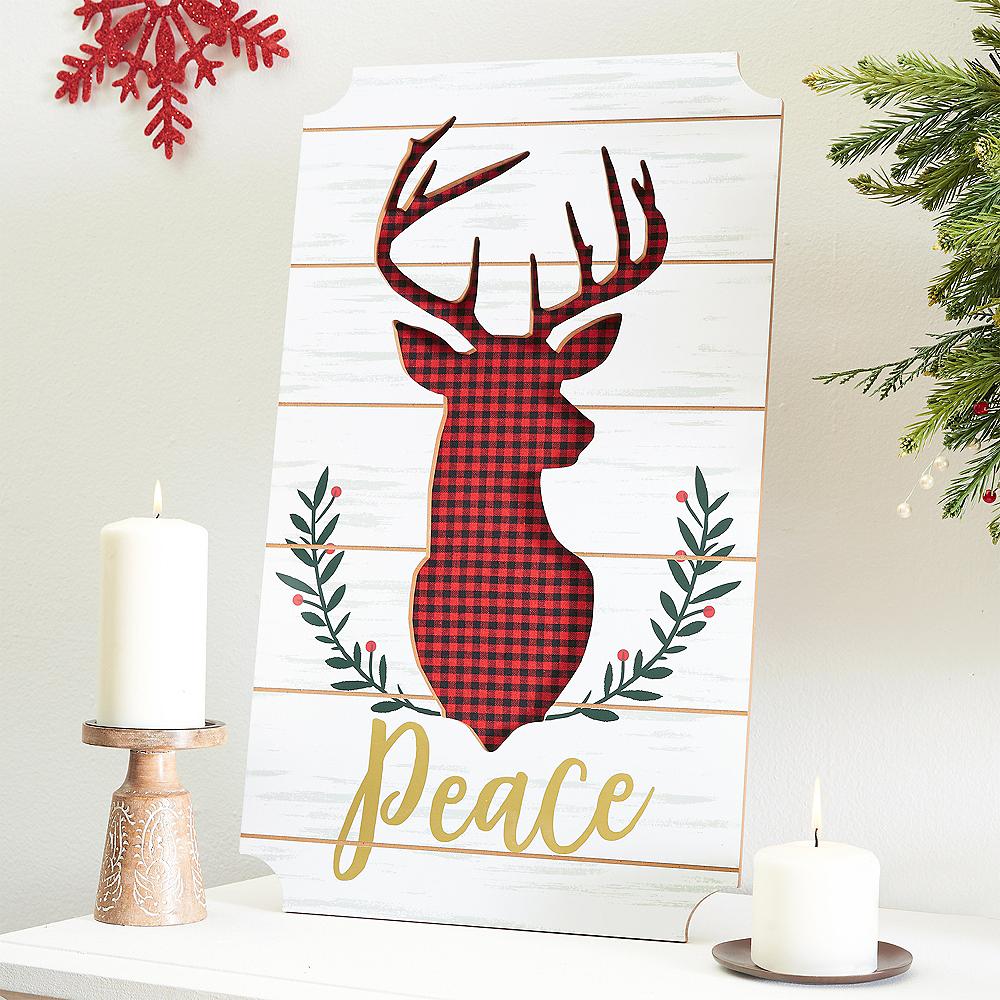 Peace Reindeer Easel Sign Image #2