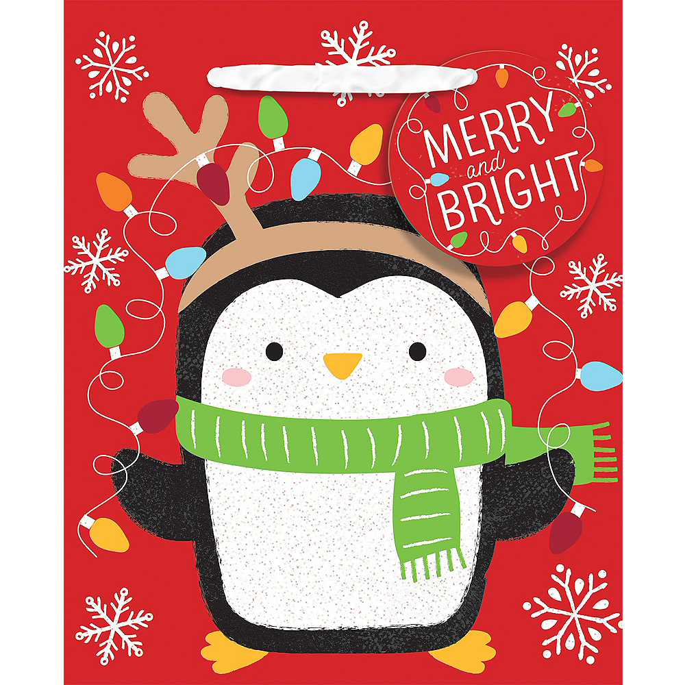 Mini Merry & Bright Penguin Gift Bag Image #1