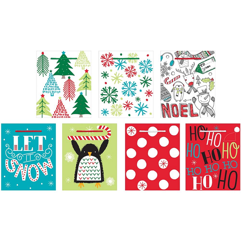 Mini Christmas Gift Bags 7ct Image #1