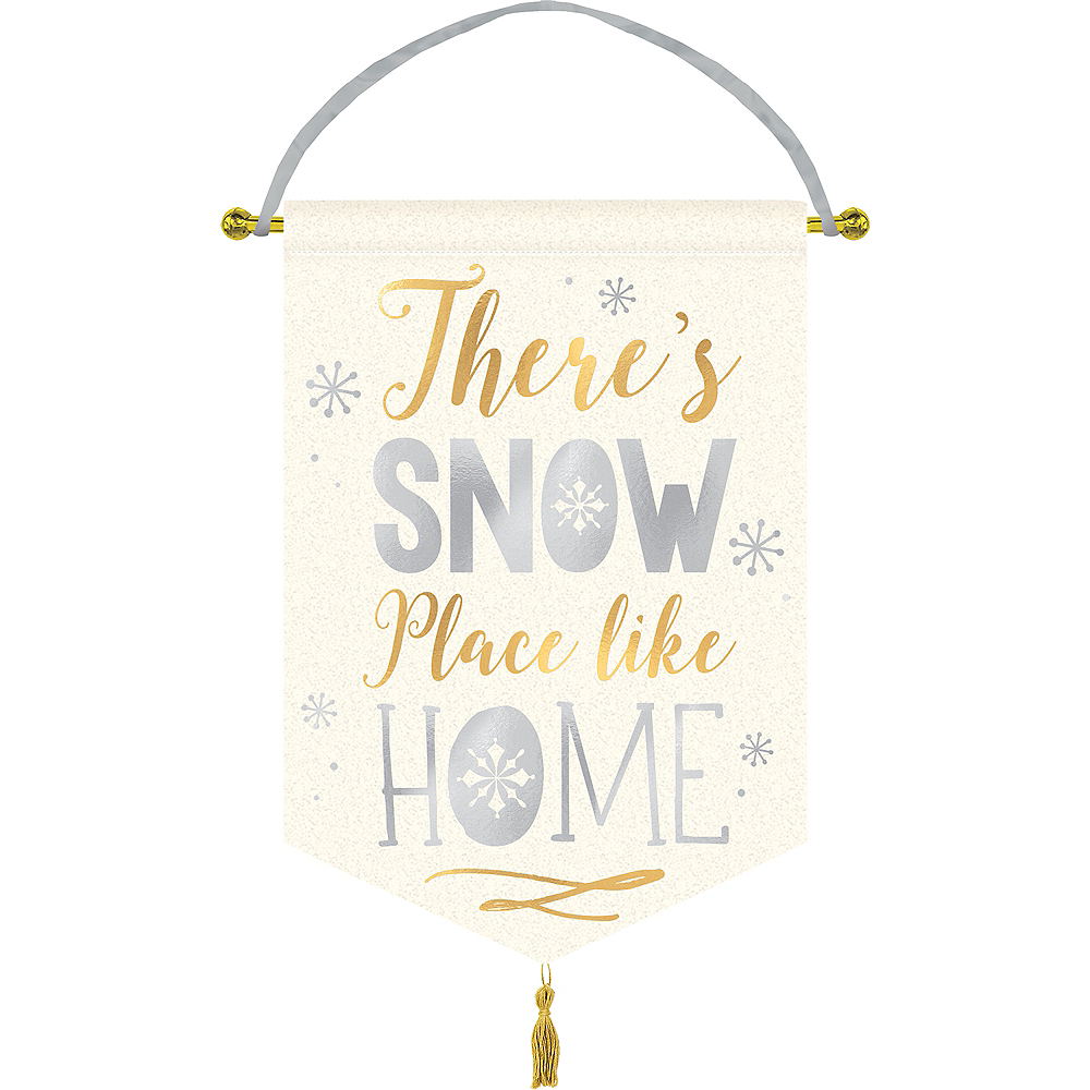 Snow Place Like Home Fabric Sign Image #1