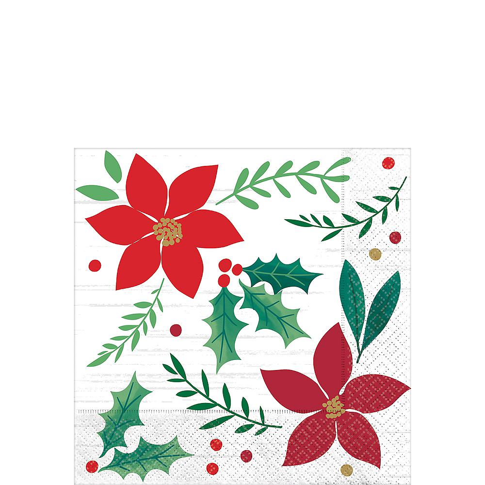 Christmas Napkins.Holly Merry Christmas Beverage Napkins 16ct