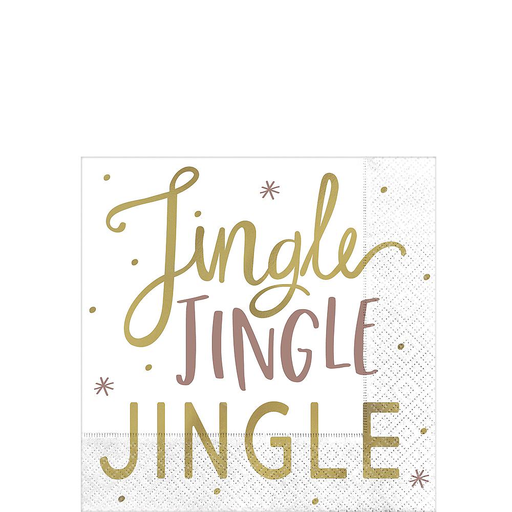 Metallic Jingle Jingle Beverage Napkins 16ct Image #1