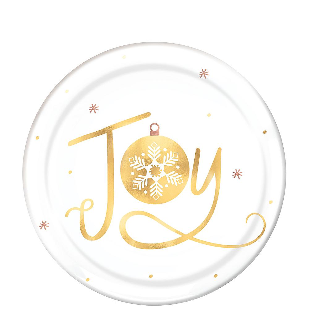 Metallic Joy Plastic Dessert Plates 4ct Image #1
