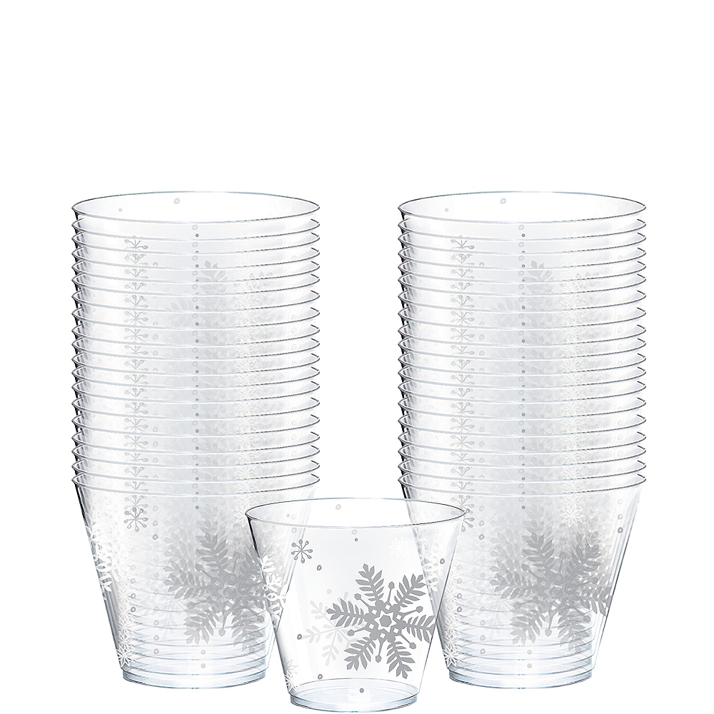 Snowflake Cups 40ct Image #1